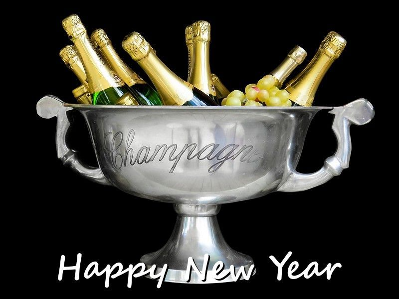 New Year And Champagne